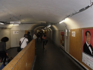 I introduce to you, the sketchy, claustrophobic, crime scene ideal, underground in Paris.