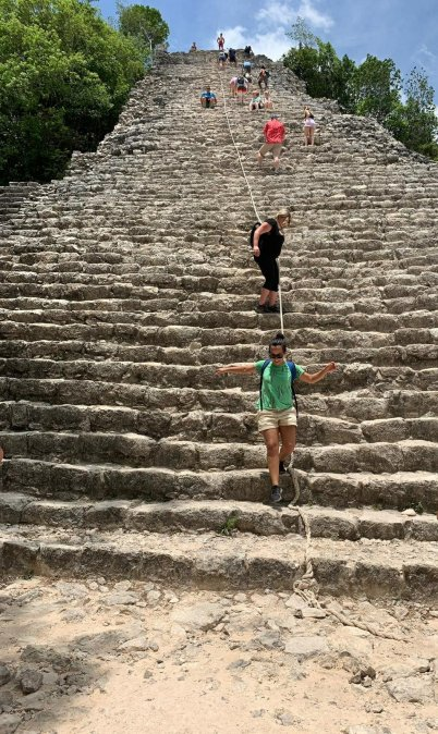 climbing-ixmoja-pyramid-in-coba-quintana-roo-mexico